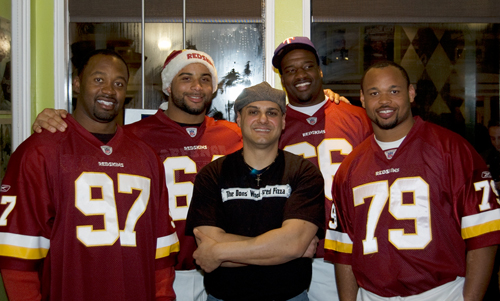 Owner Waleed Zarou with the Redskins