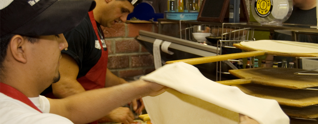 Freshly Made Hand-Tossed Dough