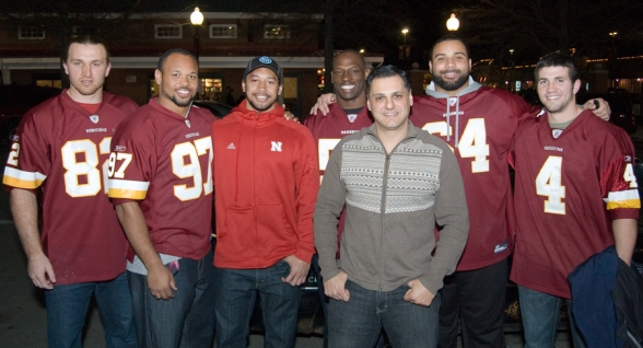 The Washington Redskins at The Dons Christmas Dinner 2011