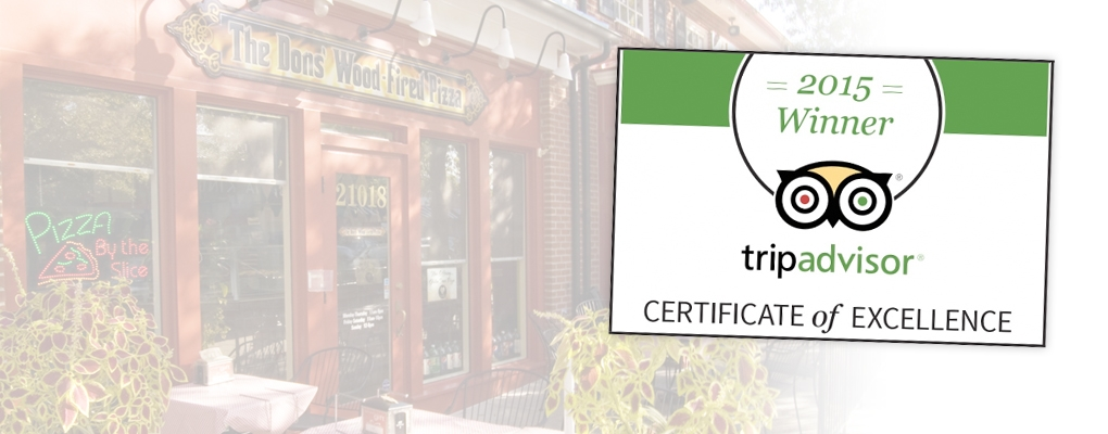 The Dons Receives 2015 Tripadvisor Certificate of Excellence