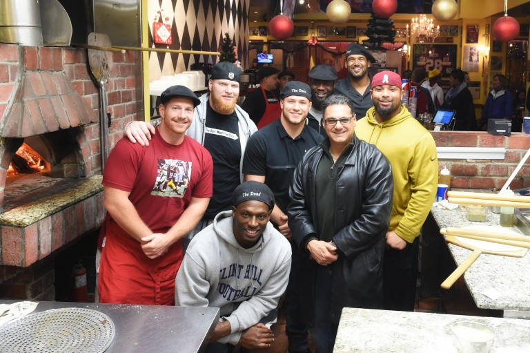 The Dons' Pizza Christmas 2015 Redskins Guests with Owner Waleed Zarou