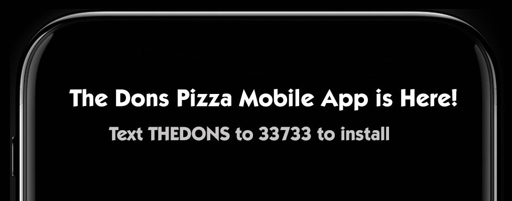 Order Pizza from The Dons Pizza Mobile App